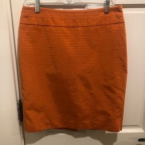 The Limited size 8 orange skirt.